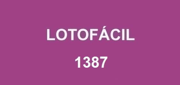 Resultado da Lotofácil 1387 com prêmio de R$ 1,7 milhão