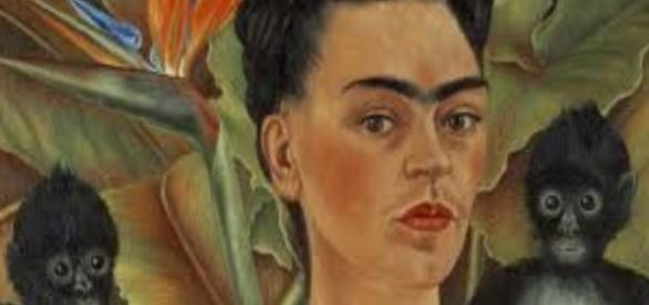 Frida Kahlo's Self-Portrait With Monkeys Creative Commons