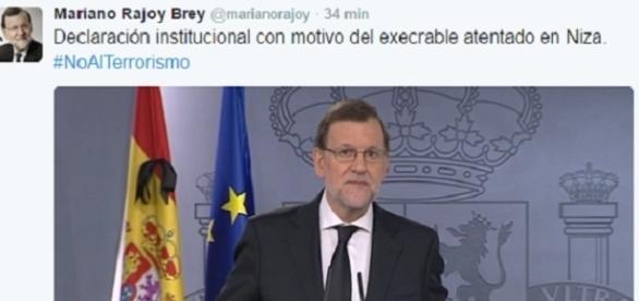 Mariano Rajoy en su comparecencia ante los medios esta mañana