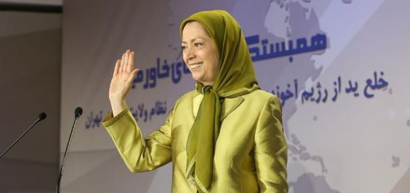 Maryam Rajavi in the meeting of Solidarity with nations of the Middle East