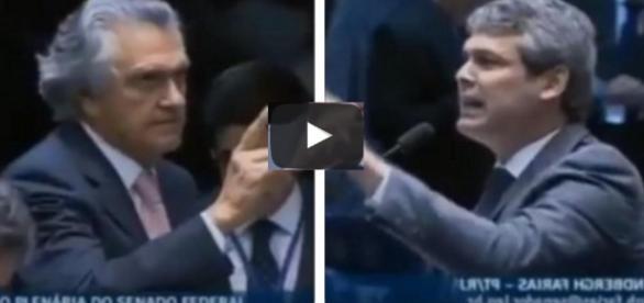 Senadores tem bate boca - Fotos/Reprodução
