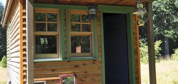 A tiny home in Olympia, Washington https://en.wikipedia.org/wiki/Tiny_house_movement