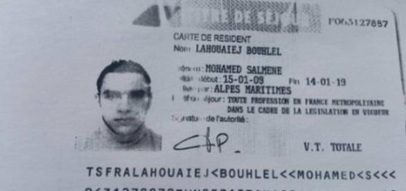 Documento traz foto de Mohamed Lahouaiej Bouhlel. Foto: Reprodução / Twitter