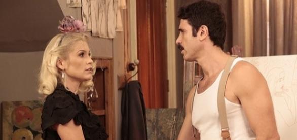 Ernesto quer se livrar de Sandra (Foto: Divulgação/Globo)