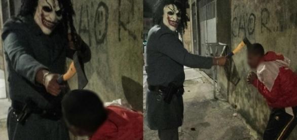 Policial surpreende ao colocar medo em bandidos