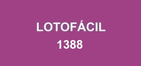 Resultado da Lotofácil 1388 será divulgado nessa sexta-feira