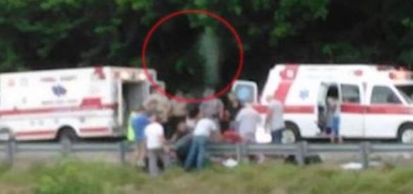 Espírito foi fotografado após morte de motoqueiro (Youtube)