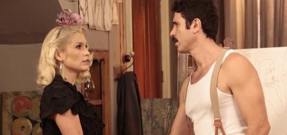 Fugitiva, Sandra será abandonada por Ernesto (Foto:Divulgação/TV Globo)
