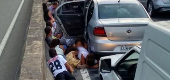 Pânico no Rio de Janeiro - Foto/Reprodução: Facebook