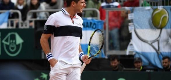 Federico Delbonis le dio a la Argentina el pase a las semifinales de Copa Davis
