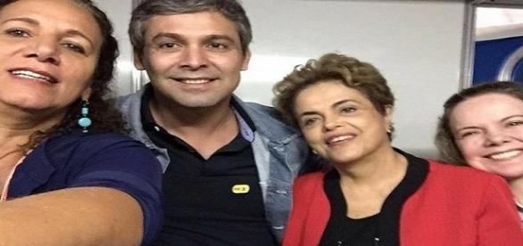 Jandira Feghali, Lindbergh Farias, Dilma e Gleisi Hoffmann