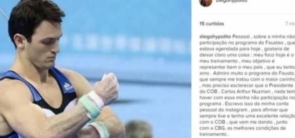 Diego Hypólito - Foto/Reprodução: Instagram
