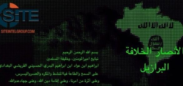 Em mensagem aos seus seguidores, Estado Islâmico declara guerra ao Brasil / Foto: Twitter