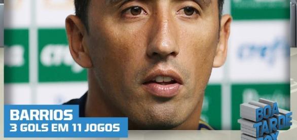 Lucas Barrios está de saída do Palmeiras