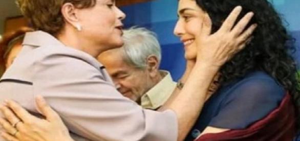 Dilma e Letícia Sabatella - Foto/Reprodução