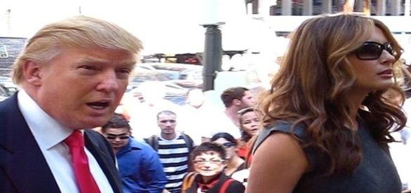 Donald Trump and Melania on the campaign trail/Photo via Flickr