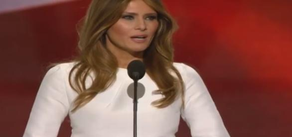 Melania Trump spoke at the GOP convention/Photo via YouTube