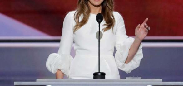Melania Trump at the Republican Convention. Via stamfordadvocate.com