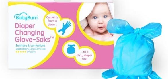 Brand new Diaper Changing Glove-Saks™ from BabyBum Products