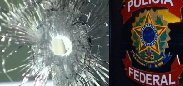 Polícia Federal sofre atentado - Foto/Montagem