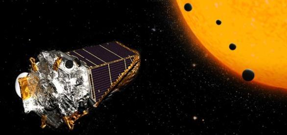 Concepção artística de K2-72 e seus planetas (Crédito NASA/JPL-Caltech)