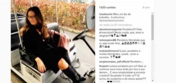 Luiza Brunet foi gravar após suposta agressão