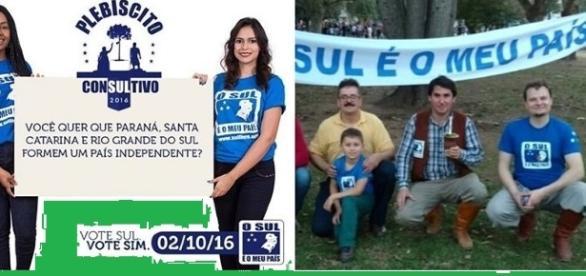 Imagem: Plebiscito pela separação do Sul do Brasil vai acontecer em outubro
