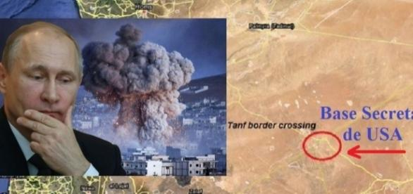 Mapa de la Base secreta americana en Siria