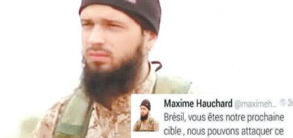 Terrorista francês ameaçando o Brasil de Terrorismo