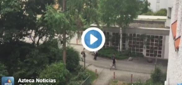 Vídeo mostra pessoas correndo de tiroteio