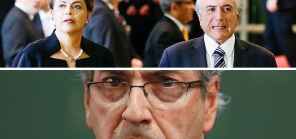 Eduardo Cunha - Dilma - Temer - Montagem