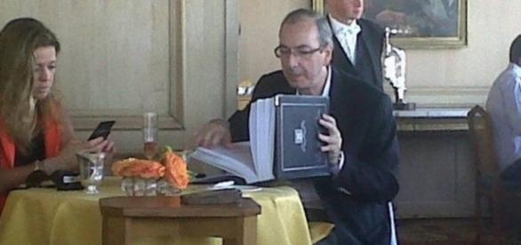 Eduardo Cunha em restaurante - Foto/Facebook