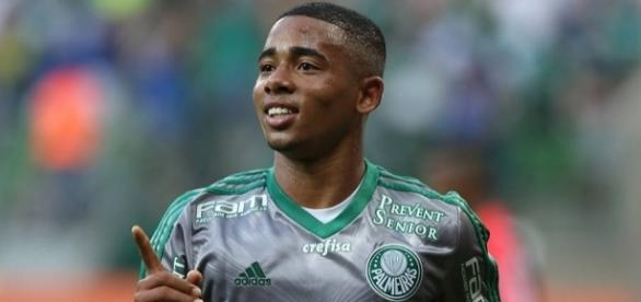 Gabriel Jesus, atacante do Palmeiras