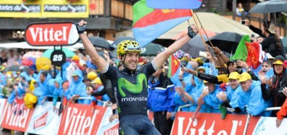 Ion Izaguirre logró en Morzine el primer éxito vasco en la edición 103 del Tour de Francia