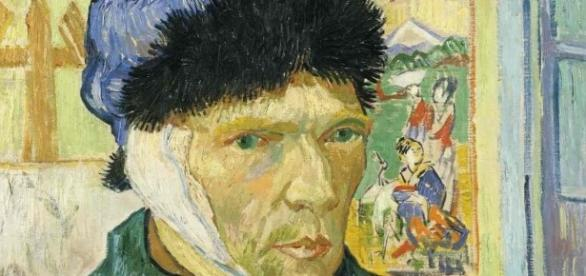 Detail of Vincent van Gogh's Self-Portrait with Bandaged Ear, 1889 Creative Commons The Courtauld Gallery, London