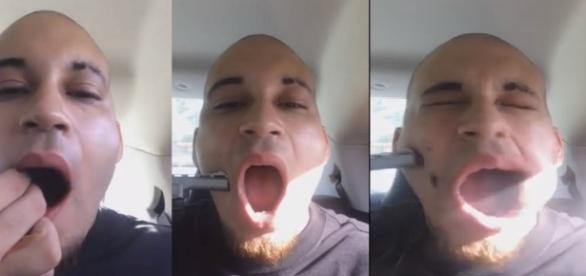 Homem dá tiro na própria boca para ficar famoso