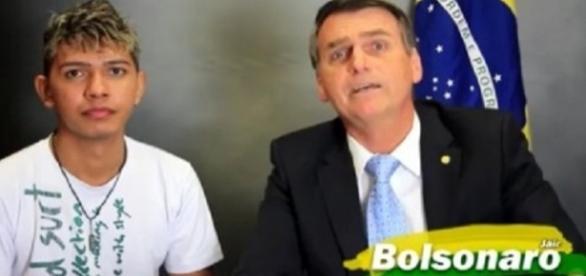 Jair Bolsonaro e Maxwill (Foto: Reprodução/Jair Bolsonaro)