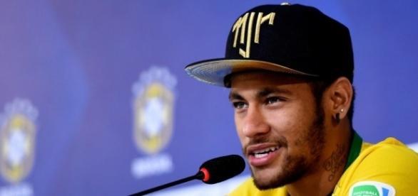 Neymar, jogador da Seleção Brasileira de Futebol