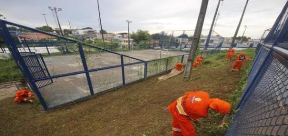 Obras em andamento na Vila Olímpica estão dificultando a vida dos atletas