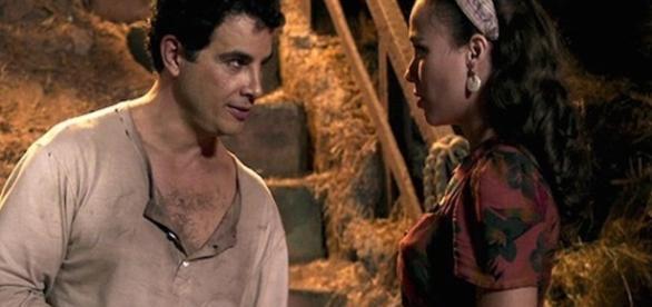 Sarita pede que Zé dos Porcos a ajude em seu plano