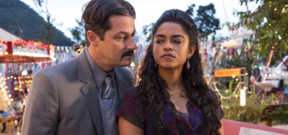 Luzia ameaça Carlos em 'Velho Chico' (Gshow)