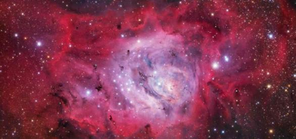 A stunning photograph of the M8 Lagoon Nebula/ Photo via Ivan Eder, National Maritime Museum