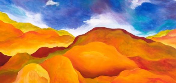 Artist Jerry Anderson is heavily inspired by landscapes. / Photo via Jerry Anderson, Artist. Used with permission.