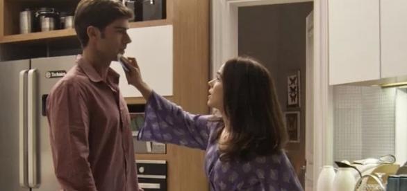Felipe demostra que sentiu ciúmes ao ver Shirlei e Adônis