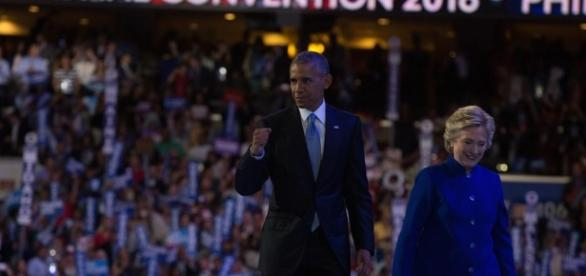 Hillary Clinton joined President Barack Obama at the DNC last night