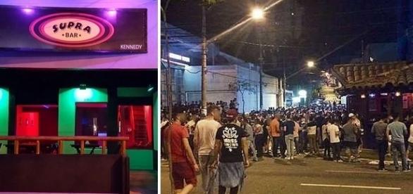 Multidão tem se reunido no bar desde a inauguração