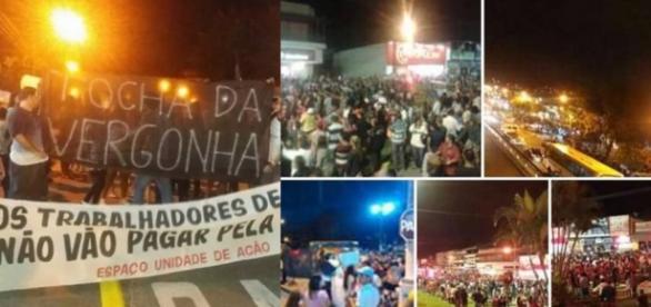 Tocha olímpica é recebida com protestos