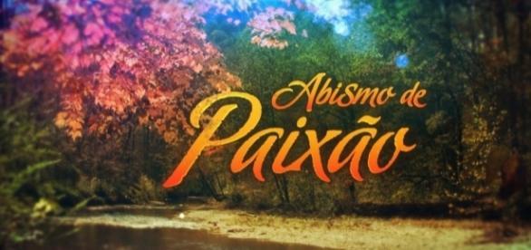 Foto de divulação da novela Abismo de Paixão