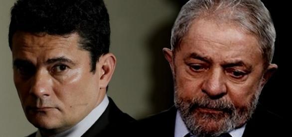 Sérgio Moro e Lula - Foto/Reprodução