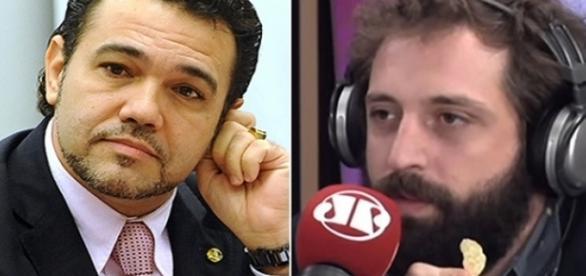 Deputado federal Marco Feliciano e Gregorio Duvivier (Foto: Reprodução)